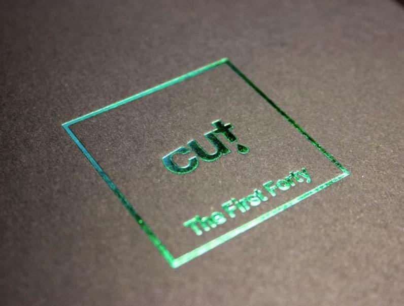 Green foil lid print on a CD boxset