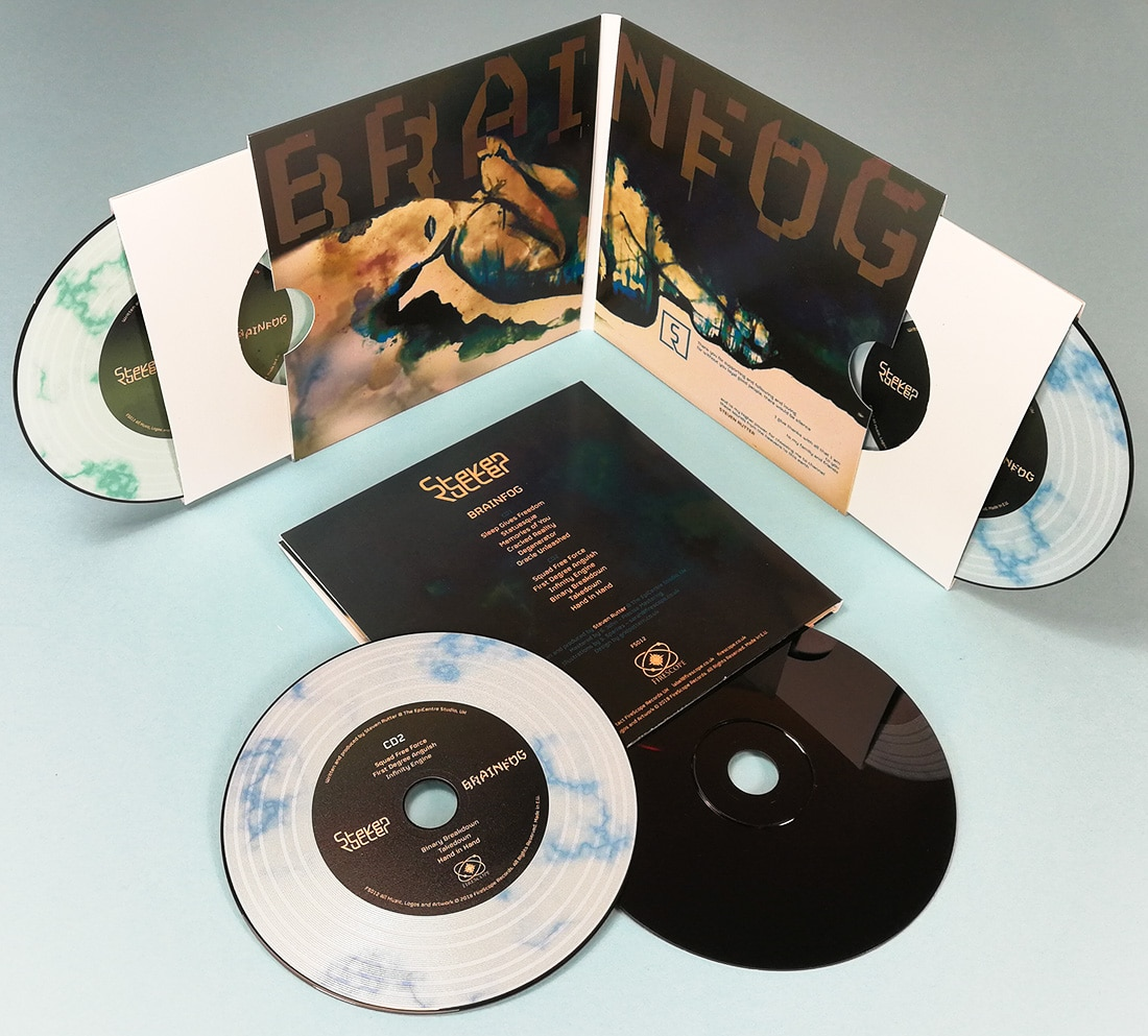 Double vinyl CD set in oversize gatefold wallets