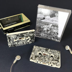 Cream cassettes with full coverage on-body print with stacked double height cassette cases