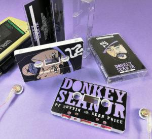 White cassette shells with a full coverage, full colour UV-LED print