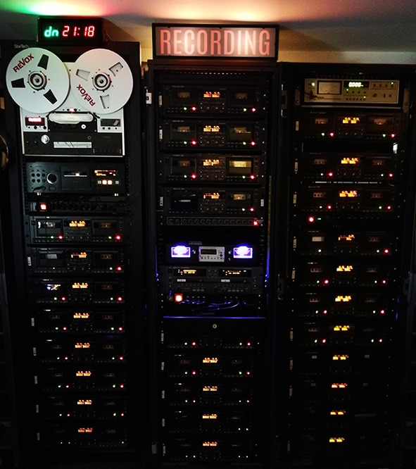 Cassette tape duplication recording setup
