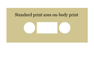 Cassette tape standard on-body printing area