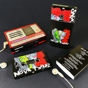 Black tapes with full coverage UV-LED printing in printed O-cards