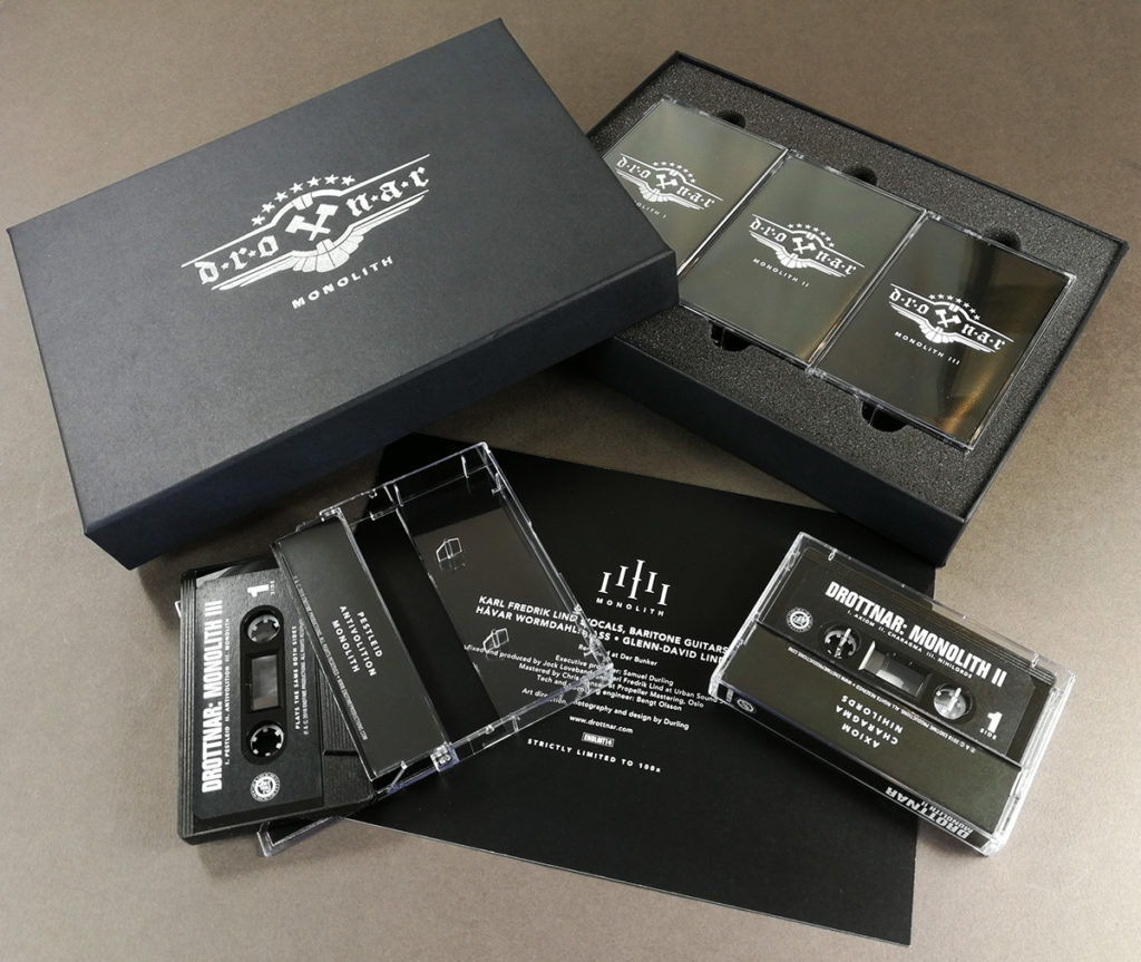 Silver foil printed triple cassette tape box set