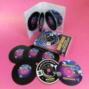 Vinyl CDs in storybook set