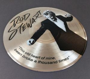 "UV LED printed 12""gold vinyl discs"