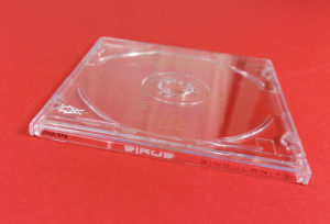 8cm CD jewel cases with on-body UV LED printing and spot gloss printing on the front