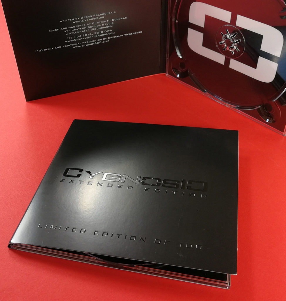 Full colour printed CD digipaks with spot gloss UV LED cover printing