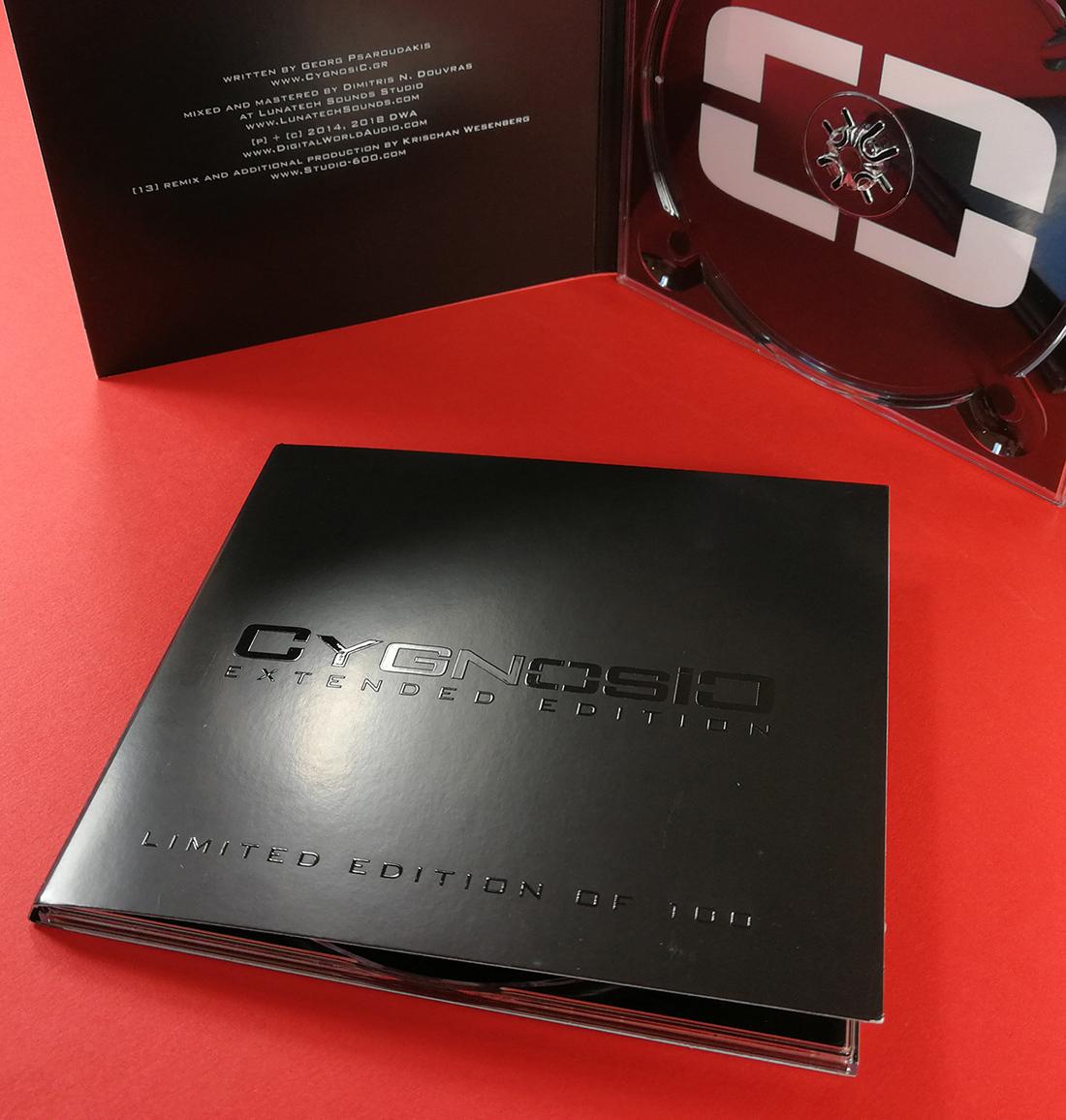 Full colour printed CD digipaks with spot gloss UV LED cover printing