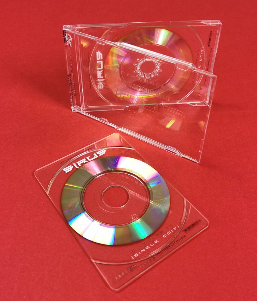 Business card CDs and cases with UV LED colour and spot gloss on-body printing