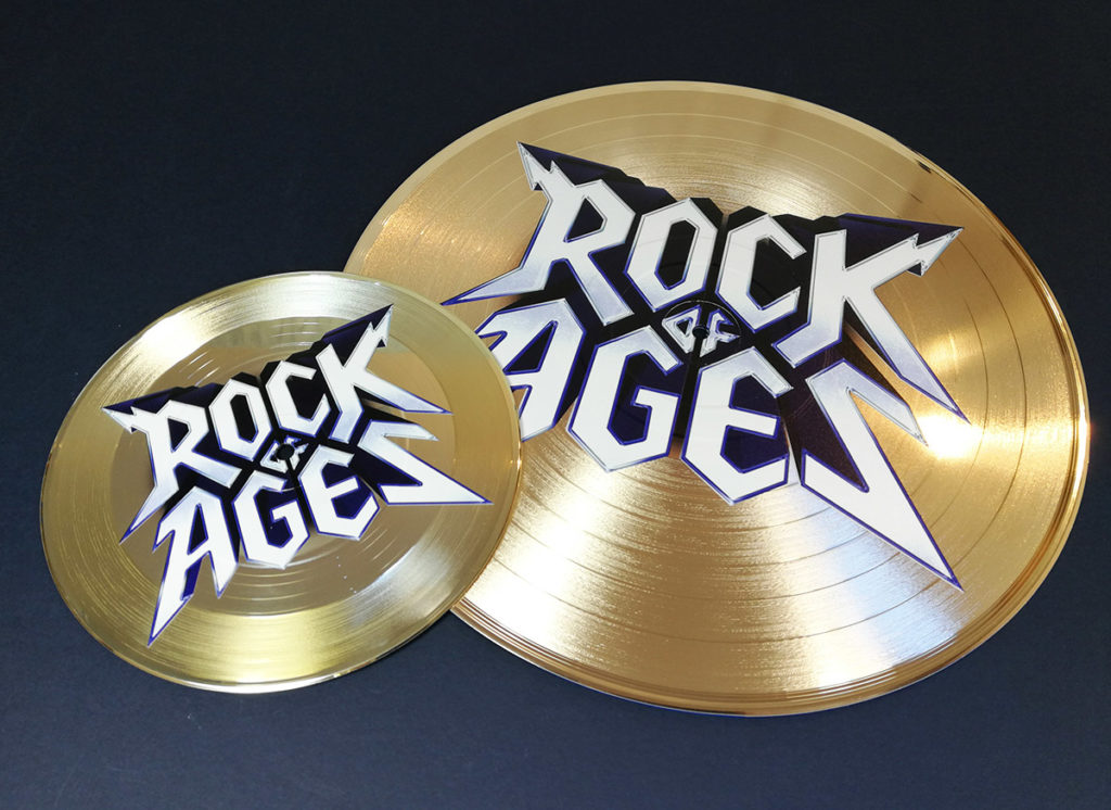"Full colour printing on 7""and 12""gold vinyl records"