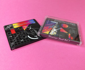 Black MiniDiscs with full coverage UV-LED printing