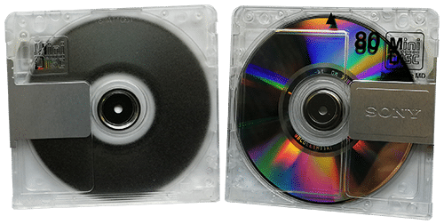 Sony blank MiniDiscs used as a base for our printing and production