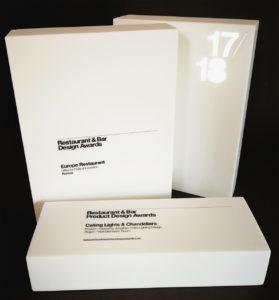 UV-LED printed illuminated awards made of heavy weight kerrock