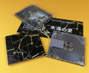 Clear MiniDiscs with full coverage UV-LED printing