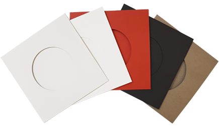 Record-style vinyl CD wallet options