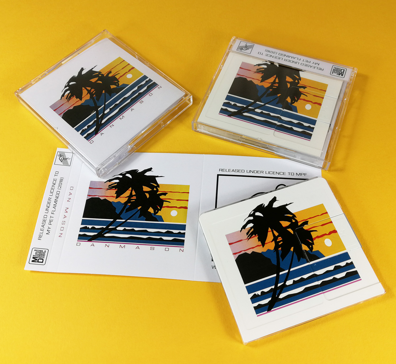 Onbody printed MiniDiscs and matching inserts