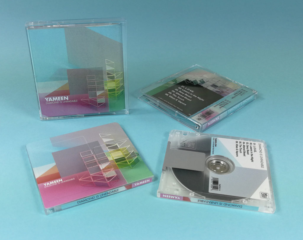 Duplicated MiniDiscs with front, rear and spine printing in jewel cases with J-cards