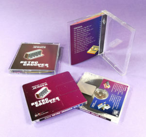 Full colour printing MiniDiscs with a white base and front, back and spine printing