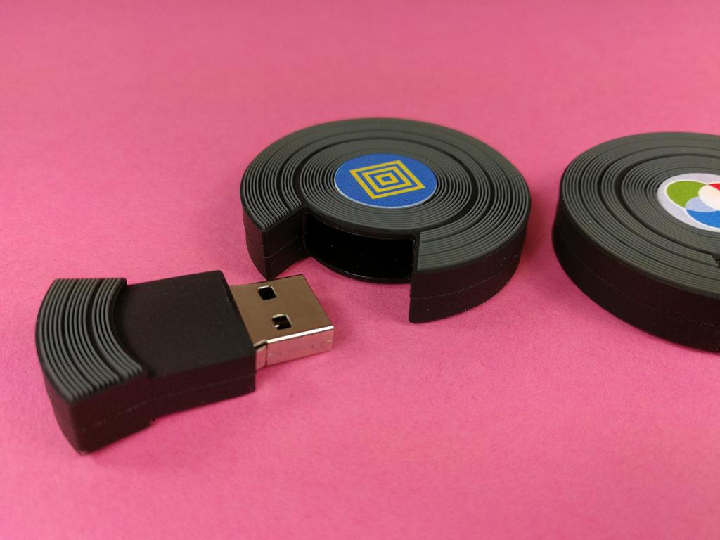 Viny USB drive close-up