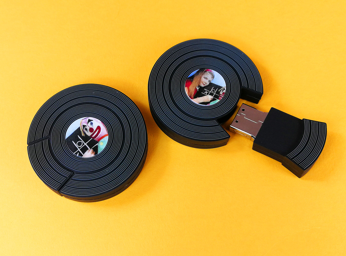 Vinyl record-style USB drives