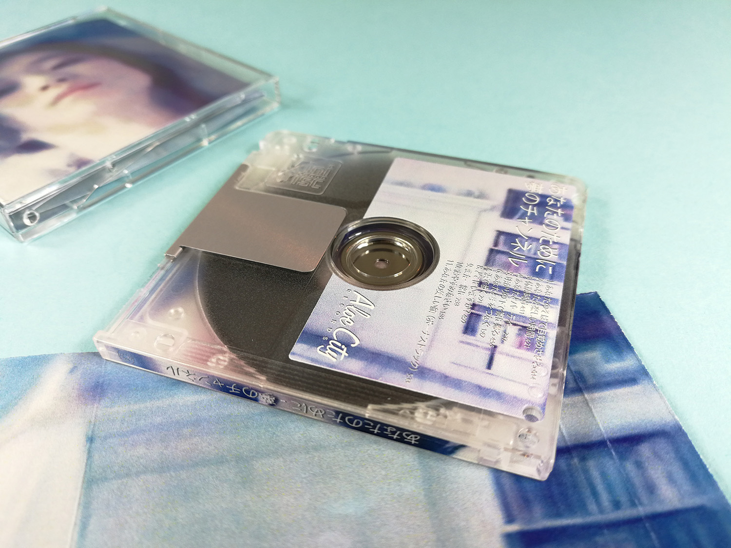Clear MiniDiscs with full colour top, underside and spine printing
