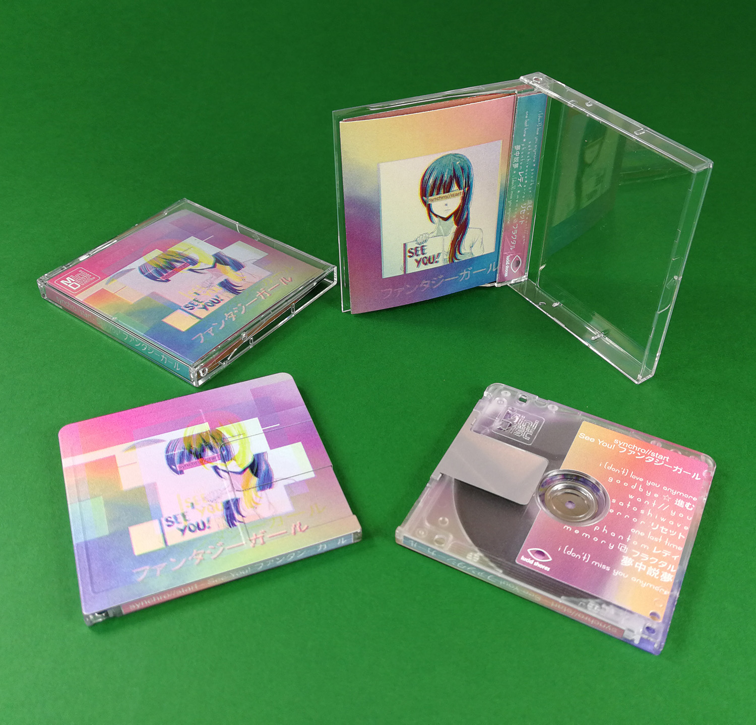 synchro//start See You! MiniDiscs with full colour on-body printing