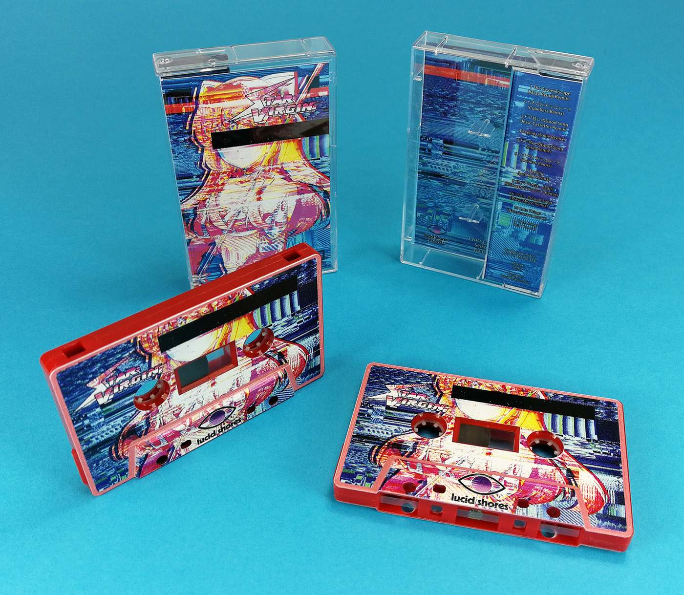 On-body printed red cassettes with full coverage printing