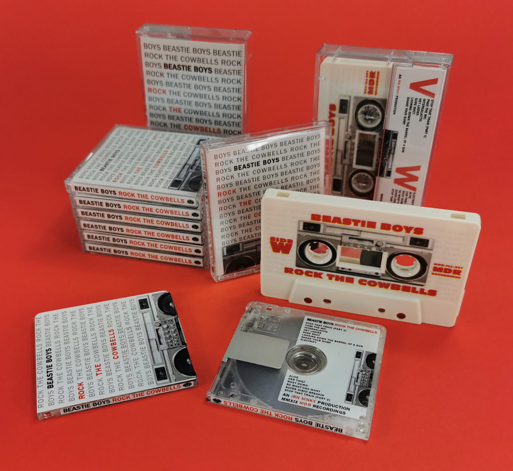 Beastie Boys 'Rock The Cowbells' limited release on cassette tape and MiniDisc