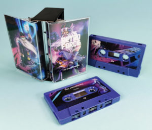 Tanzania purple cassette tapes in a double butterfly case