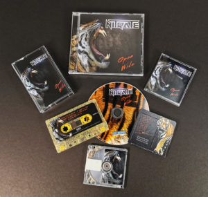 Cassette tapes and MiniDiscs produced for Nitrate and their 'Open Wide' album