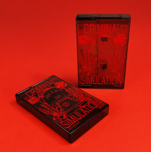 Red on-body printing on our clear brown smokey cassette cases