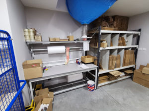 Packing area