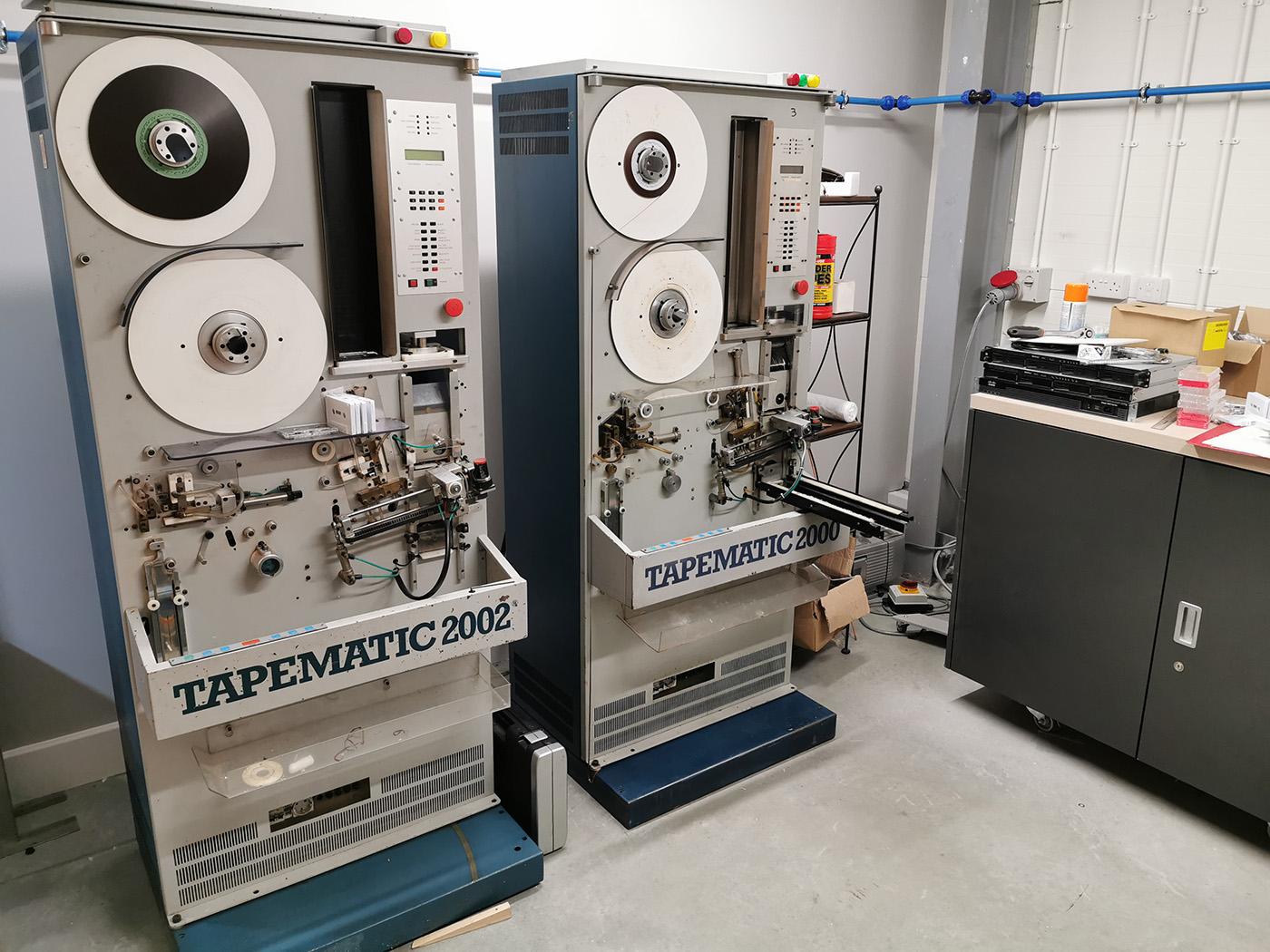 Cassette tape winding machines