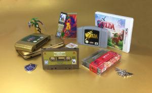 Vintage Bronze and Vintage Silver 'Zeldawave' cassettes with sticker printing, j-cards and obi-strips.