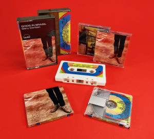 Cream cassette tapes and MiniDiscs with full colour matching J-cards and printing