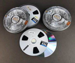 A double 12cm CD set in printed metal tins produced for the 'D R E A M . O N . 2 .' release by six by seven