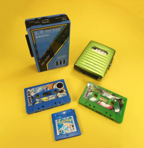 Cassettes produced for the 24th anniversary of the release of Pokemon Blue & Green