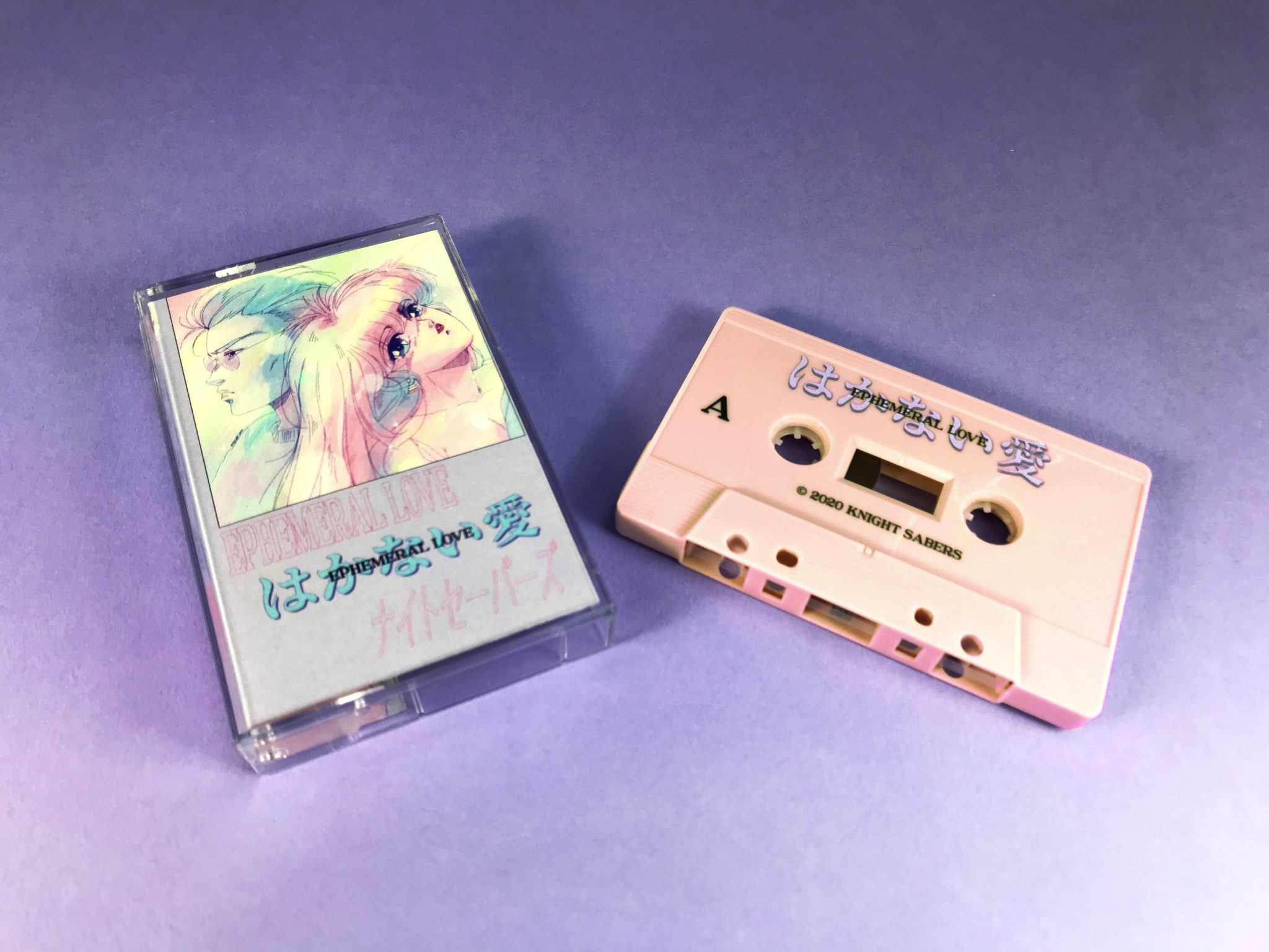 Dusty Pink cassettes with colour body print