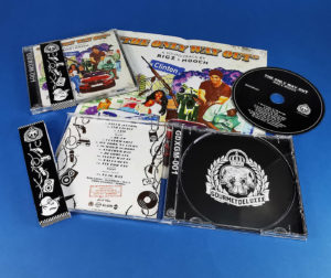 CD jewel cases with glass mastered discs, 8 page poster booklets and jewel cases with obi strips