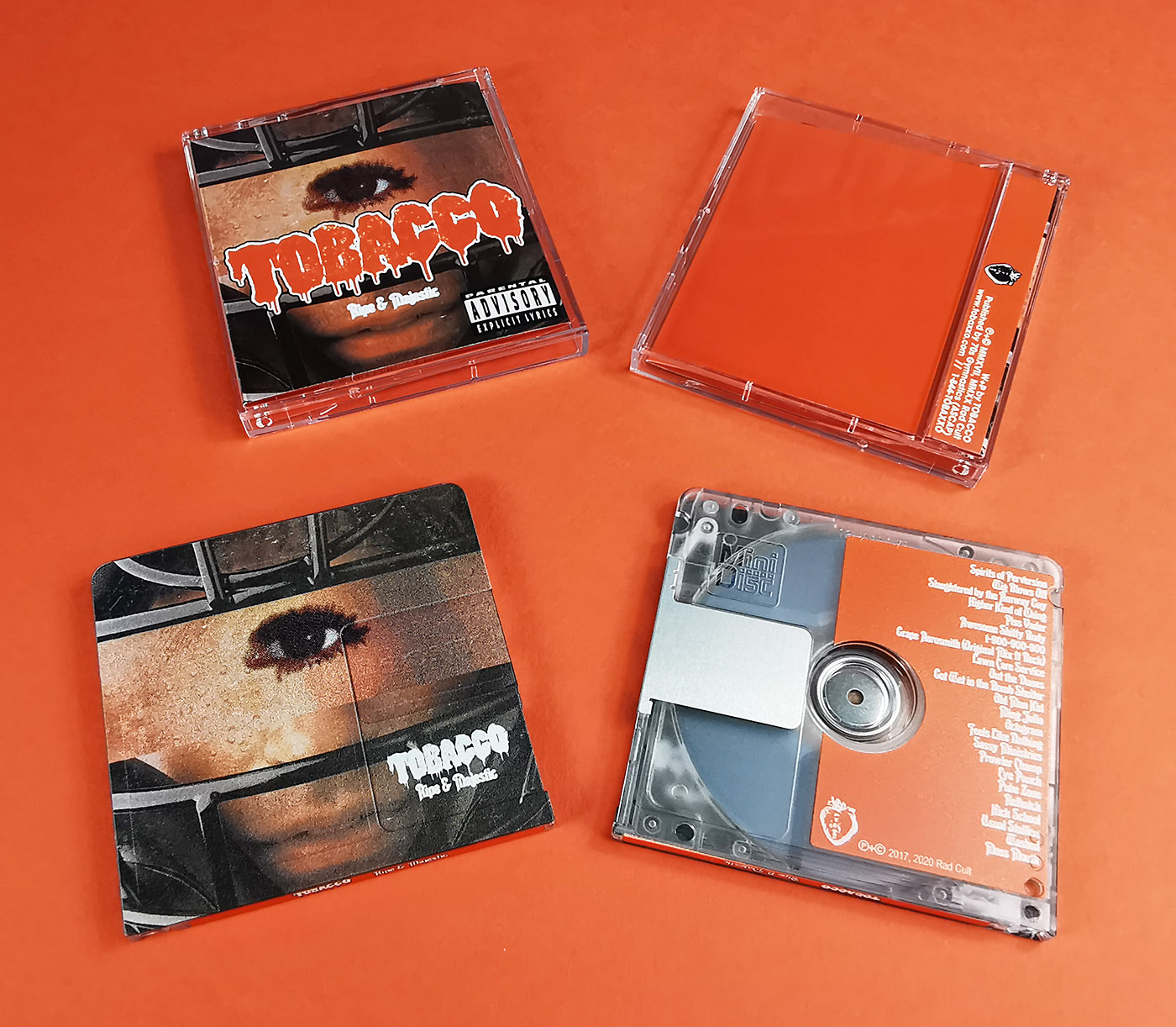 "TOBACCO ""Ripe and Majestic"" MiniDiscs produced for the Rad Cult label"