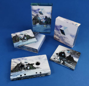 AQVARIVS double MiniDisc sets in outer O-cards and cassette tapes produced for the Underwater Computing label