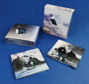 AQVARIVS double MiniDisc sets in outer O-cards produced for the Underwater Computing label