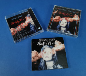 Stream Catcher BuffyWave MiniDisc in clear jewel cases with printed J-cards