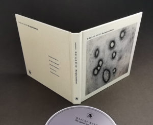 Cream linen hardback digipaks with full colour front cover, plus black spine and rear cover printing