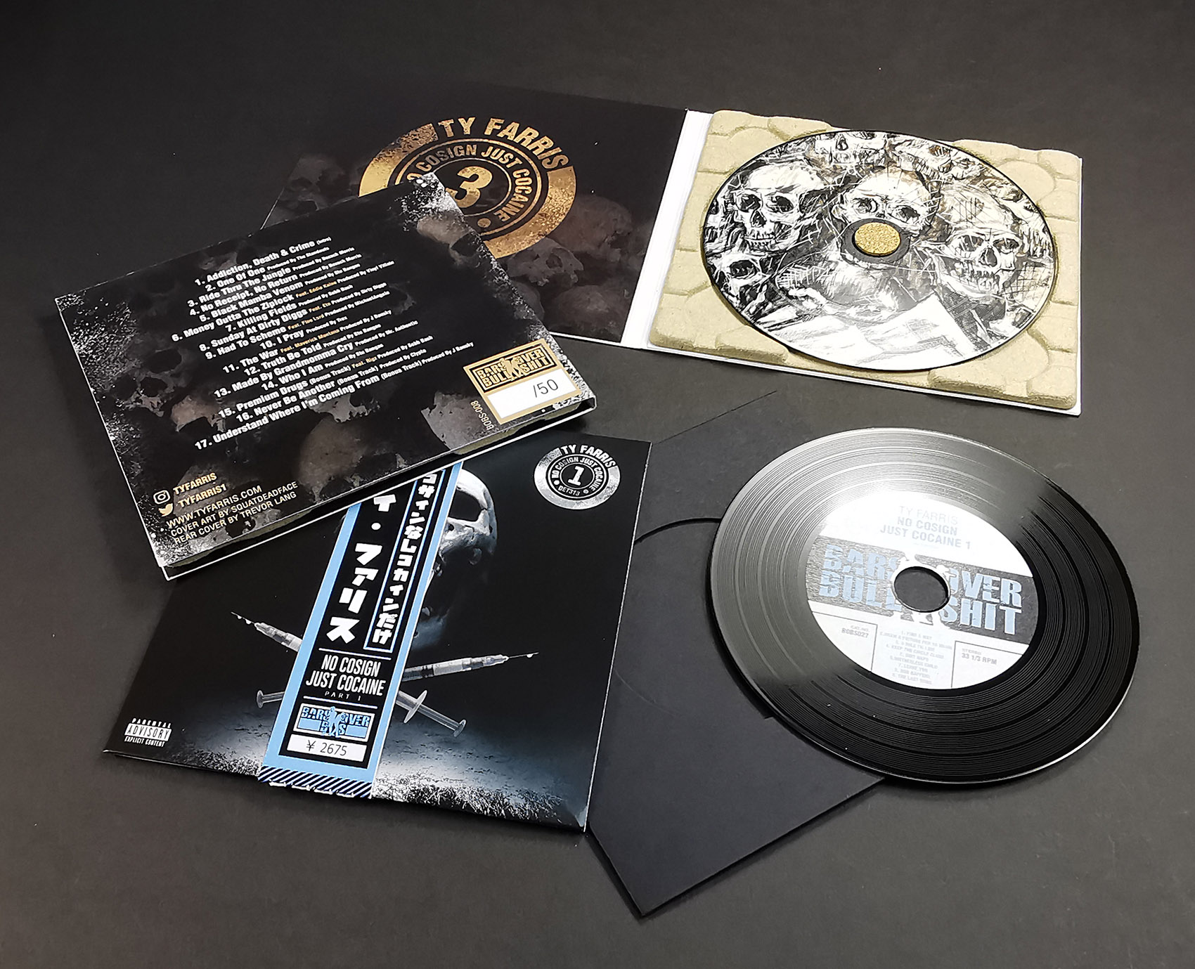 Eco digipaks and premium vinyl CDs with Obi strips