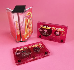 Clear prison tapes with a full coverage pink and colour print to tint the tapes, packed in a double butterfly tape case