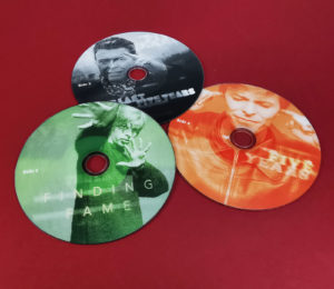 Printed DVDs produced for a David Bowie trilogy on the BBC