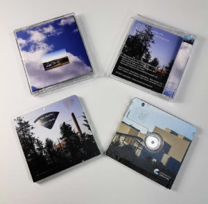 Clear MiniDiscs with full coverage rear printing and a full coverage front print with partially revealed window