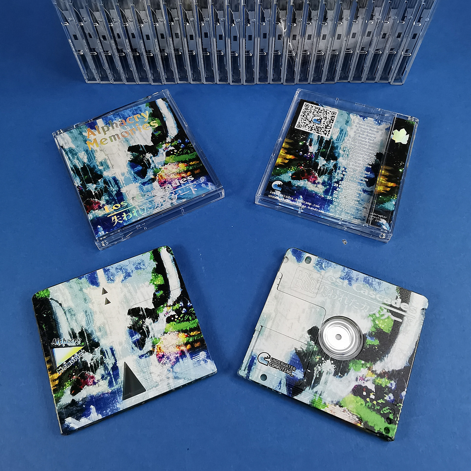 MiniDiscs with holographic foil printed J-cards